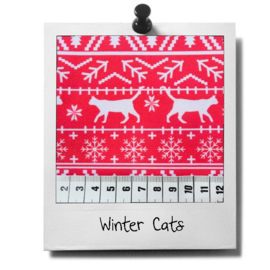catnip cat pillow WINTER CATS