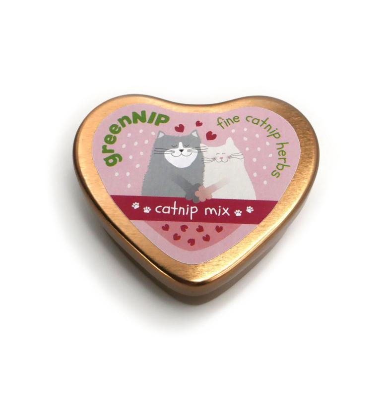 catnip mix (in een hartvormig blikken doosje)