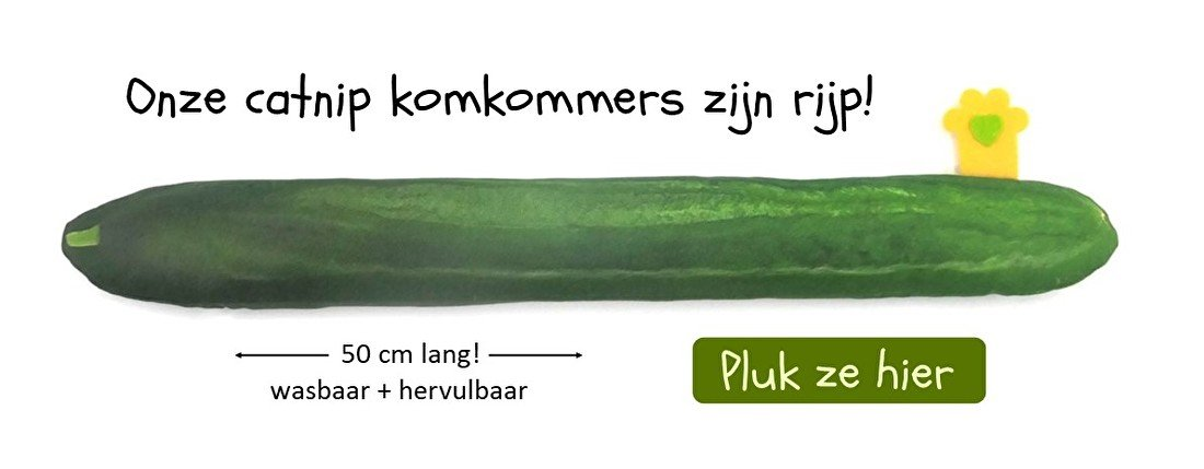 catnip wasbaar hervulbaar komkommer