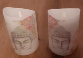 LED kaars boeddha per 2 stuks