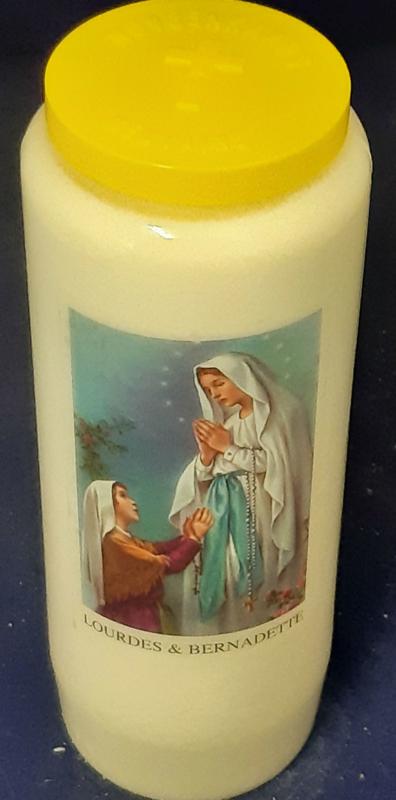 noveenkaars 9-dagenbrander-Lourdes&Bernadette-9 stuks