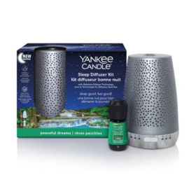 Yankee Candle Sleep Diffuser starters kit Peacefull dreams Silver