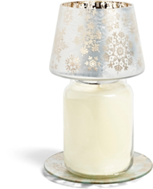 YC snowflake frost large shade & tray