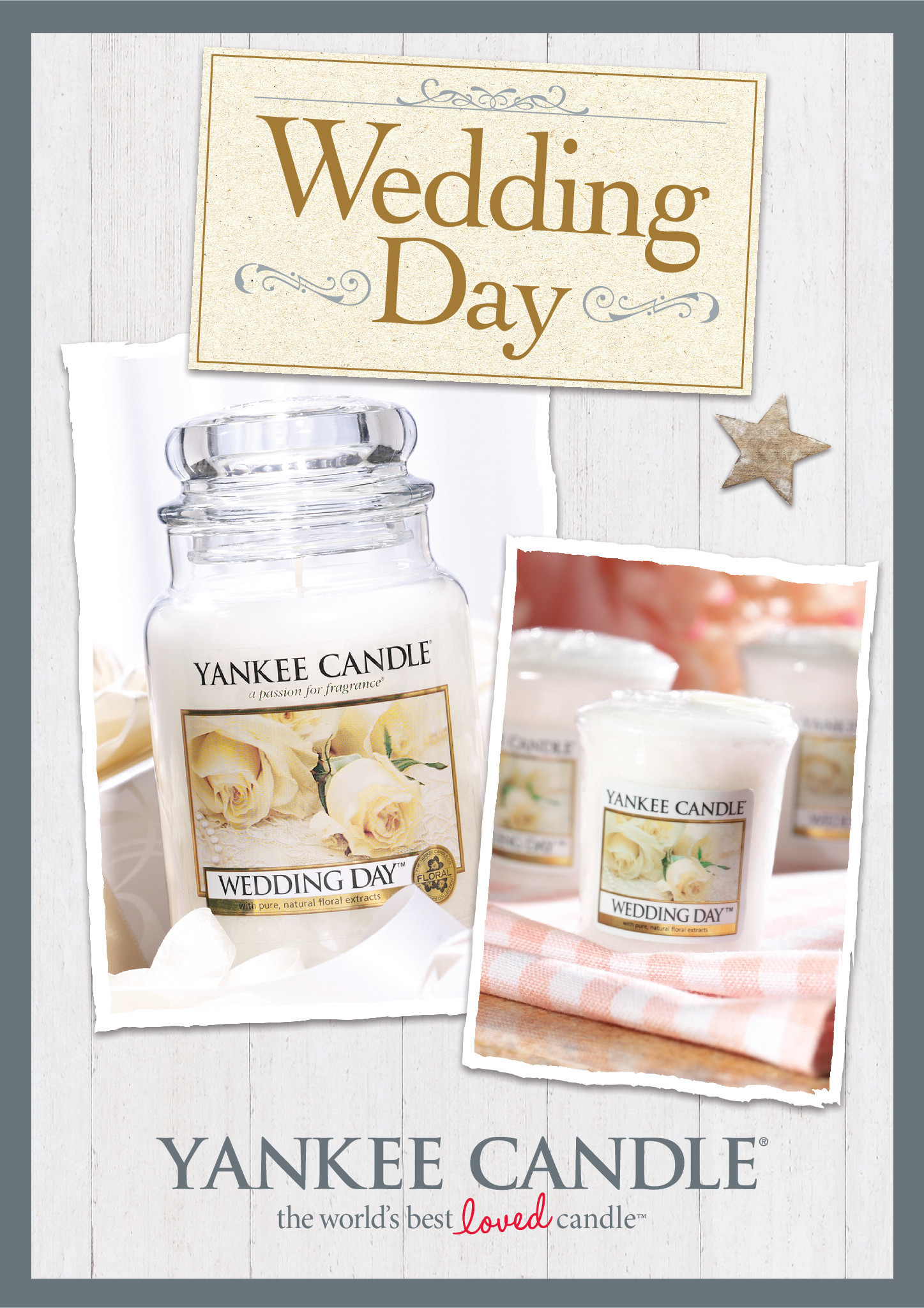 wedding day Yankee Candle