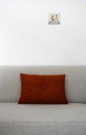 Kussen Eye roest-oranje rechthoekig