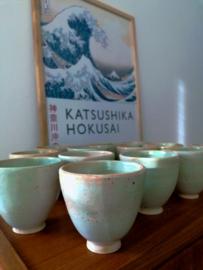 Japanse koffiekopjes Gale Green (2x)