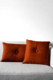 Kussen Eye roest-oranje vierkant
