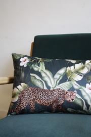 Velvet kussen Cheetah Groen