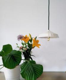 Hanglamp Keramiek Wide - Dark Green Cord
