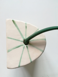 Green striped muurlamp