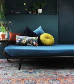 Velvet kussen blue rainforest rechthoekig