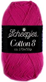 Scheepjes Cotton 8 nr 720 DonkerFuchsia