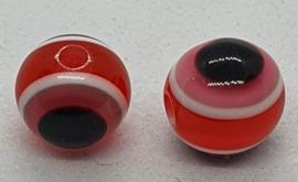 Boze oog kralen 8mm Rood