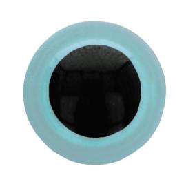 Veiligheidsogen Licht Blauw 6mm (2 stuks)