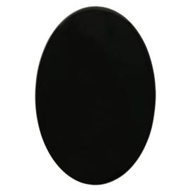 Veiligheidsogen ovaal zwart 25 mm (2 stuks)