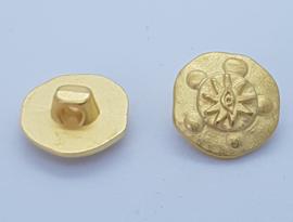 Goudkleurige Knoop met Motief 15mm