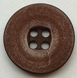 Donker Bruine Knoop 20 mm