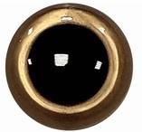 Veiligheidsogen Goud 15mm (2 stuks)