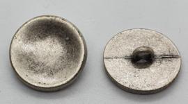 Grijs Metalen Knoop 20mm