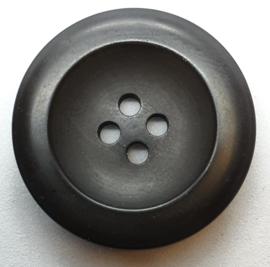Zwarte Knoop met 4 Gaatjes 28mm
