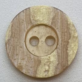 Caramel Kleurige Knoop 15 mm