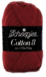 Scheepjes Cotton 8 nr 717 Donker Rood