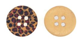 Ronde Knopen met Luipaard Motief 15mm