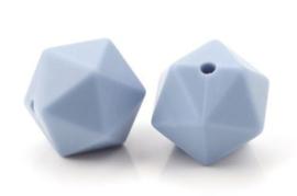 Hexagon Kraal Grijs Blauw 14mm
