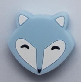 Siliconen Kraal Vossenhoofd Blauw