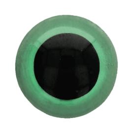 Veiligheidsogen Groen 6mm (2 stuks)