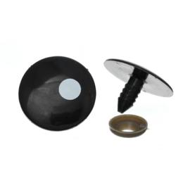 Veiligheids Ogen Zwart met Pupil 27mm per paar
