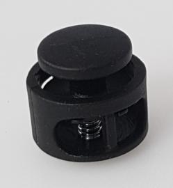 Zwarte Kunststof Ronde Koordstopper 11 x 17 mm