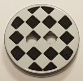 Zwart Wit Geblokte Knopen 13mm