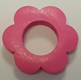 Bloemetjes Kraal Donker Roze 26mm