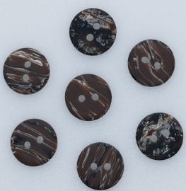 Bruine Gemeleerde Knoop 11 mm