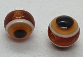 Boze oog kralen 8mm Bruin