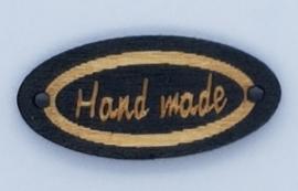 Houten Ovalen Zwarte Handmade Buttons 27mm Lichte Tekst