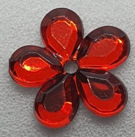Rode Bloemen Pailletten 10mm