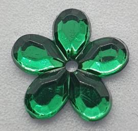 Groene Bloemen Pailletten 12mm