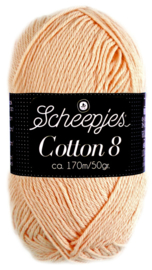 Scheepjes Cotton 8 nr 715 Licht Oranje