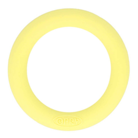 Siliconen Bijtring Rond 55mm - Geel