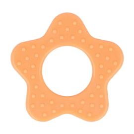 Bijtring - Ster met noppen - Oranje