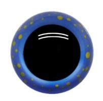 Blauwe Gestippelde Fantasie Veiligheids Ogen 14mm