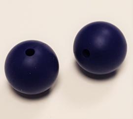 Paars Blauwe Silicone Kralen 9mm (5 Stuks)