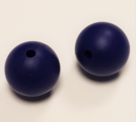 Donker Blauwe Silicone Kralen 15mm
