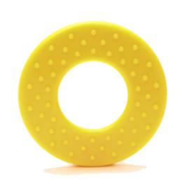 Durable Bijtring - Rond met noppen  - Geel 645