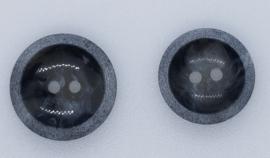 Donker Grijze Knopen met Rand 20&23mm