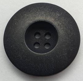 Zwarte Knoop met 4 Gaatjes & glitter 28mm