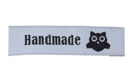 Wit Zwarte Stoffen Handmade Hand made & Uil Labels (5 Stuks)