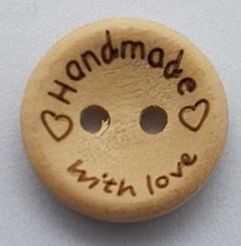 Blank Houten Handmade Knoop 15mm